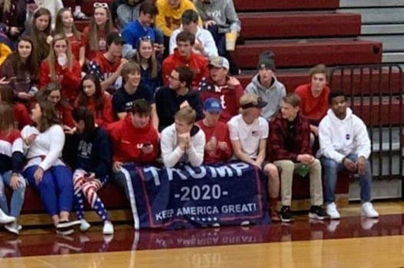 Illustration for article titled High School Students Bring Trump 2020 Flag To Basketball Game Against Predominantly Black School