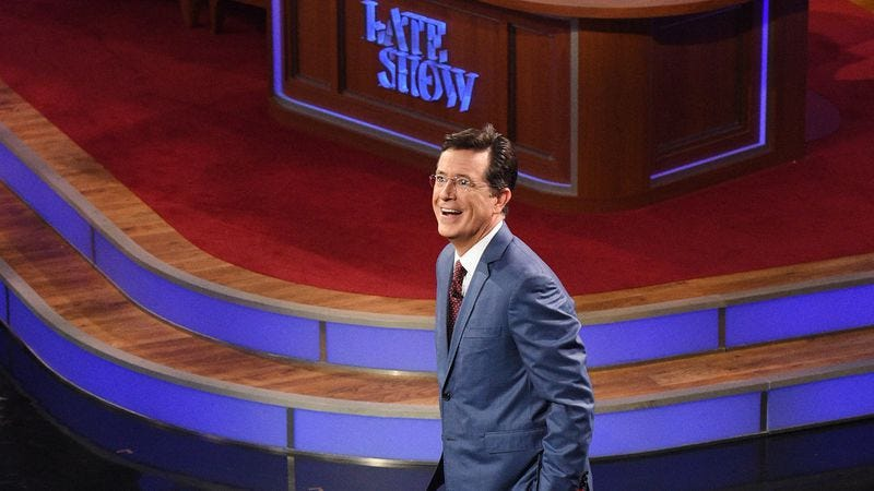 Illustration for article titled Unlike its competition, The Late Show With Stephen Colbert has a host that matters