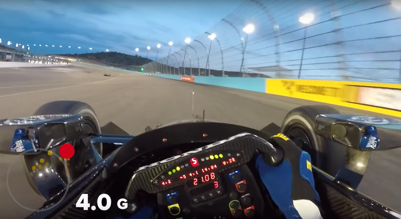 These Are The Insane G-Forces That An IndyCar Driver Experiences At An Oval Track