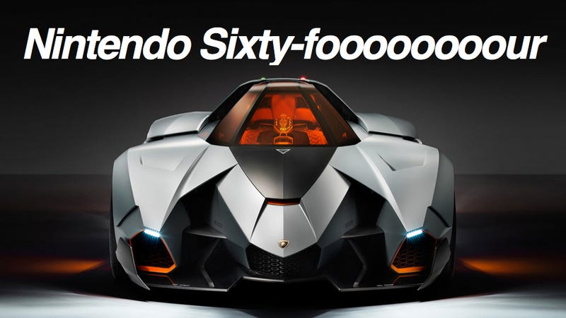 Illustration for article titled This Lamborghini Sure Looks like a Nintendo 64 Controller