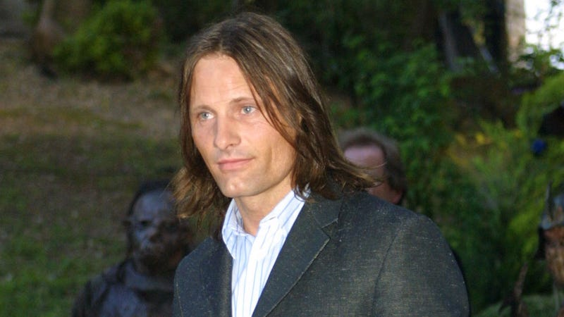 Viggo Mortensen in 2001, when he played the 87-year-old Aragorn in The Lord Of The Rings.