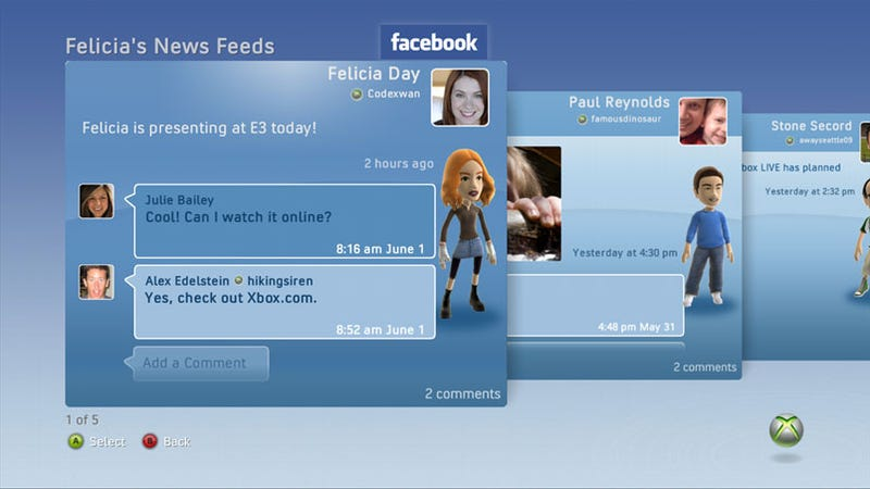 Illustration for article titled Facebook, Twitter Coming To Xbox 360
