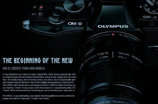 Illustration for article titled Gorgeous Shot of the Olympus OM-D Leaks