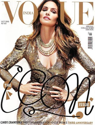 Illustration for article titled Cindy Crawford Nabs Iconic Cover, Looks Fantastic