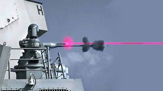 Illustration for article titled Navy's Next Wonder Weapon Combines a High Speed 25mm Gun With Deadly Laser
