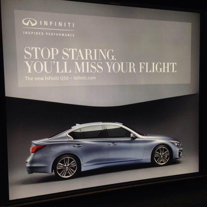 Illustration for article titled Infiniti Advertisement At The Airport