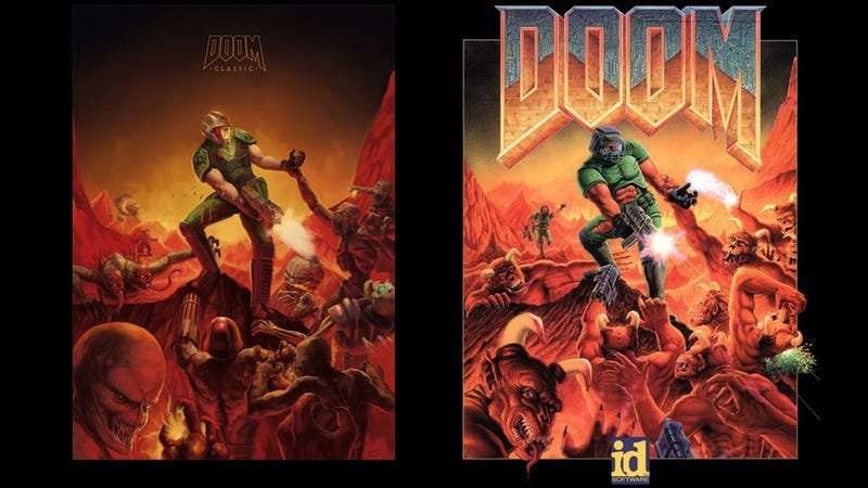 Illustration for article titled A Doom Tribute That Also Kind of 'Fixes' Doom's Box Art