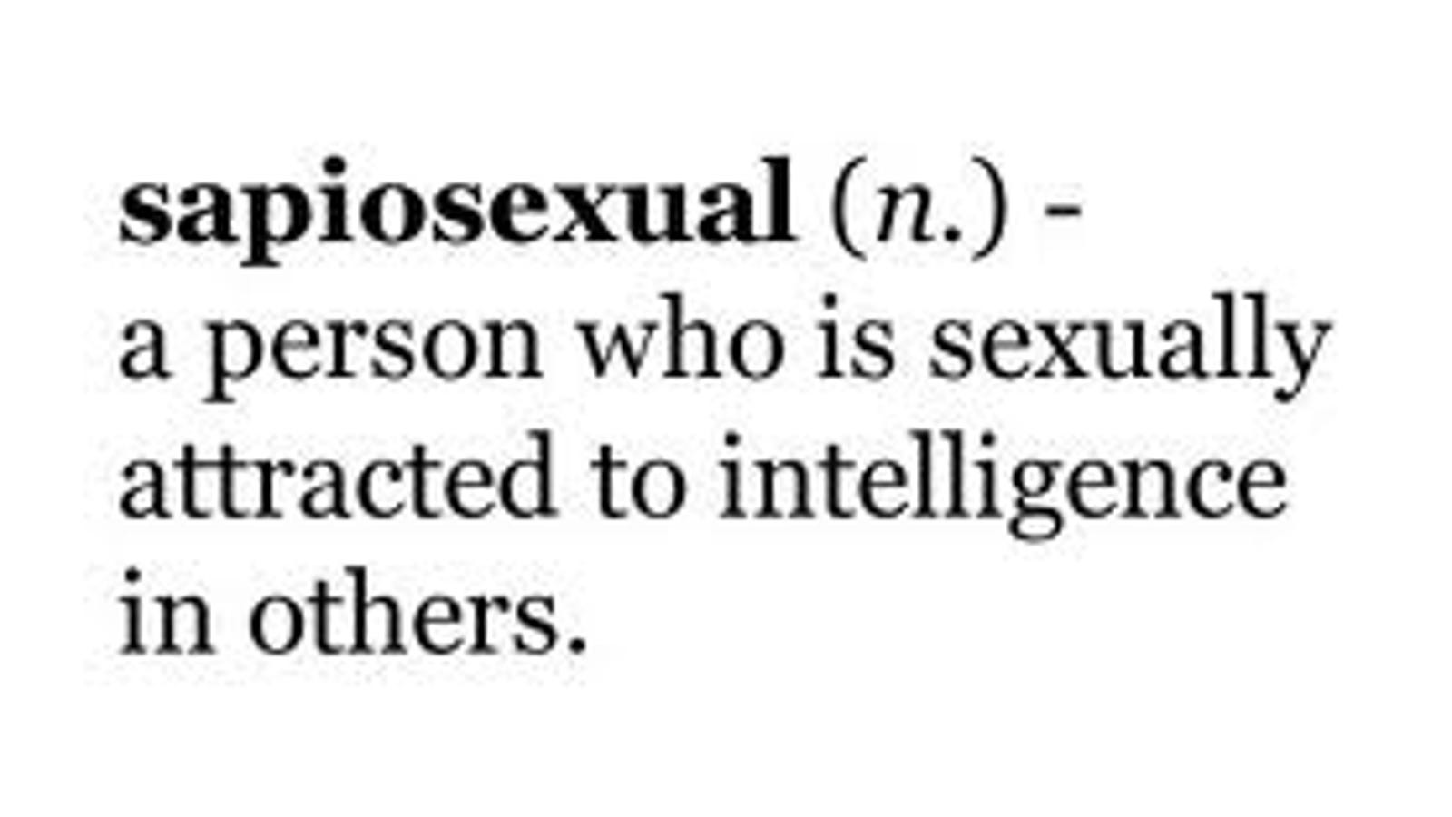 Sexually attracted to someone intelligence