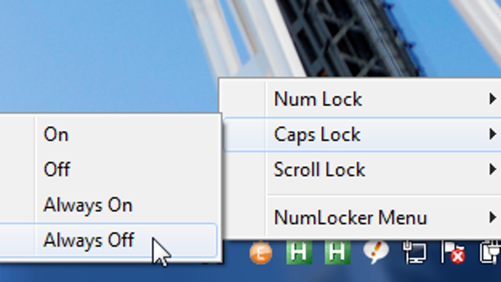 NumLocker Disables the Caps Lock Key