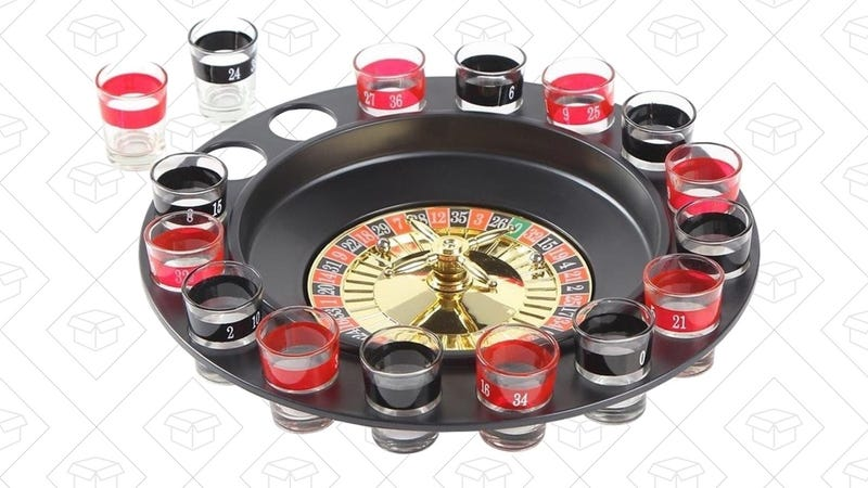 Ohuhu Shot Glass Roulette Drinking Game, $10 with code 3AZ5D5Y5