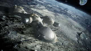 Illustration for article titled Soon, 3D printers could be building houses on the Moon out of lunar dust