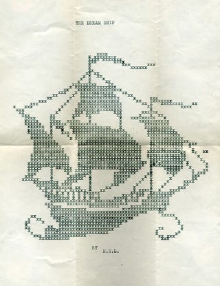 Illustration for article titled ASCII Art, Circa 1934