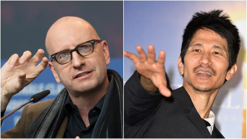 We just thought the juxtaposition was funny. That's Soderbergh on the left, and Araki on the right.