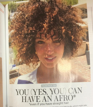 A feature about Afros in Allure magazine's August 2015 publicationScreenshot