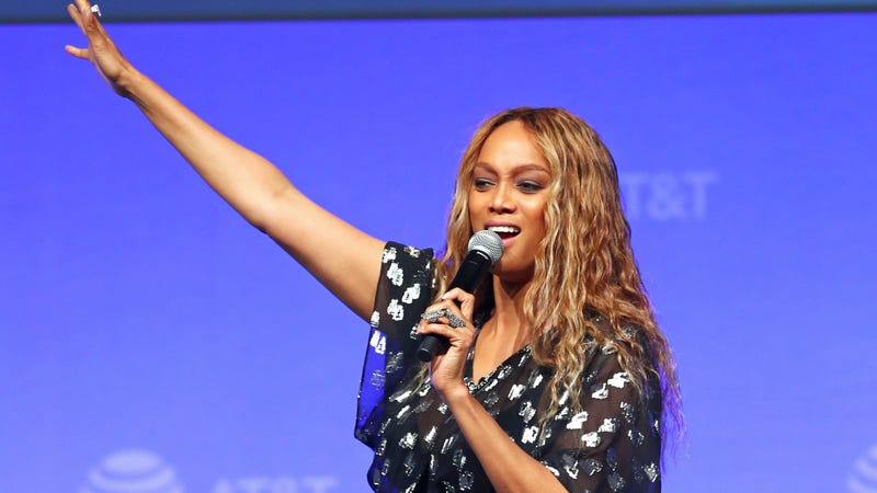 Tyra Banks speaks onstage during the 'Tyra Banks' Trail Blazing Entertainment Ventures - What's Next? on June 22, 2019 in Burbank, California.