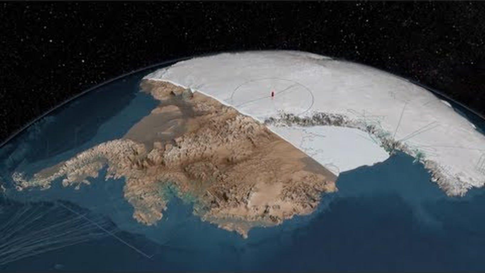Este es el aspecto que tendría la Antártida sin hielo