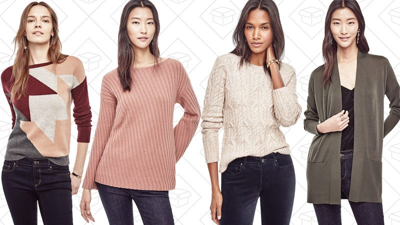 Ann Taylor: $20-$25 sweaters
