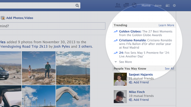 Facebook Now Shows You Personalized Trending Topics In ...