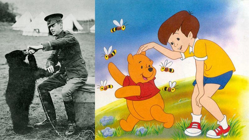Illustration for article titled Winnie the Pooh was based on a real bear that participated in WWI