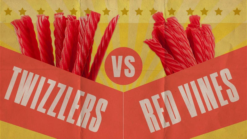 Illustration for article titled Twizzlers vs. Red Vines: a fight to the licorice