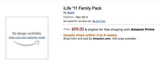 Illustration for article titled iLife '11 Shows Up Early on Amazon For $99