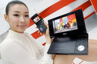 Illustration for article titled Doesn't She Look Thrilled About LG's First DTV Devices For The US