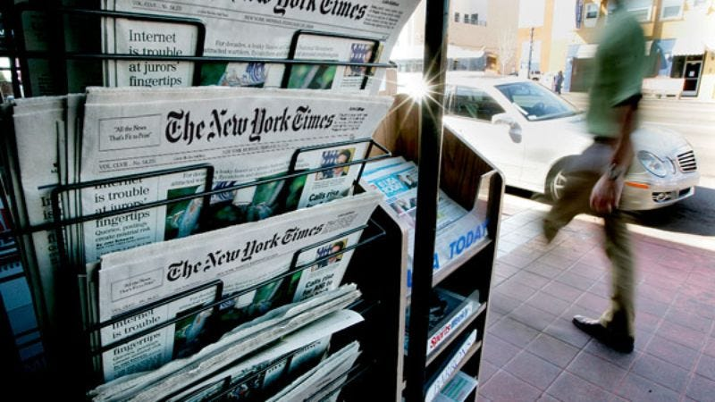 Print journalism owes its solvency to the loyal hostage-takers still paying cover price.