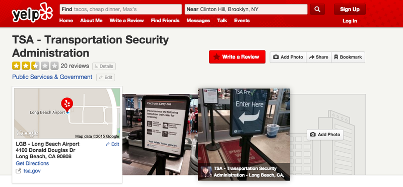 Illustration for article titled You Can Officially Review the TSA on Yelp Now, But Don't Bother
