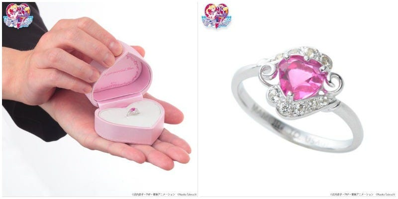Illustration for article titled Sailor Moon Wedding Ring Only $1,486