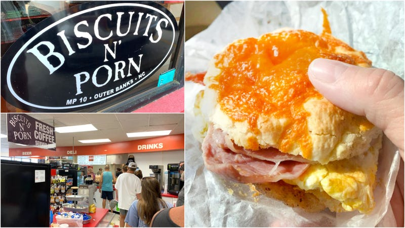 At Biscuits N' Porn, a great sandwich is half the fun