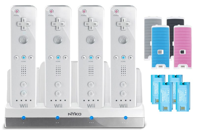 Illustration for article titled Guess How Many Wiimotes the Nyko Charge Station Quad Charges