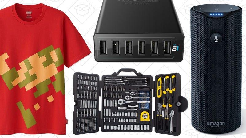 Illustration for article titled Las mejores ofertas del día: Camisetas de Nintendo, Amazon Tap, caja de herramientas y más