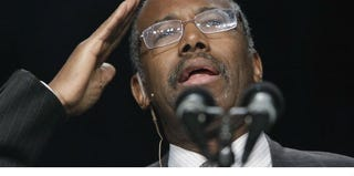 Dr. Benjamin Carson speaks during the National Prayer Breakfast. (Getty Images News/Pool)