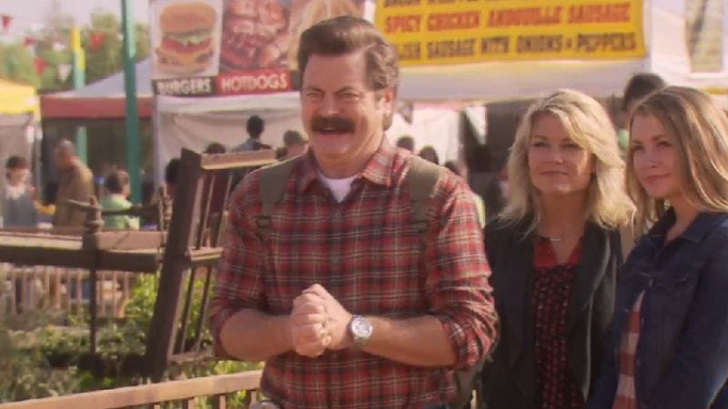 Illustration for article titled Here's a deleted Ron Swanson scene from tonight's Parks And Recreation
