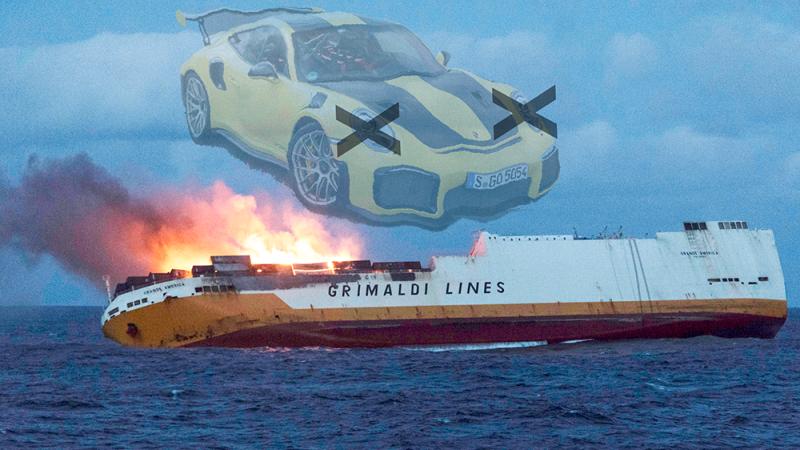 Illustration for article titled La increíble respuesta de Porsche cuando varios 911 GT2 RS descatalogados se hunden en el mar y no llegan a sus clientes