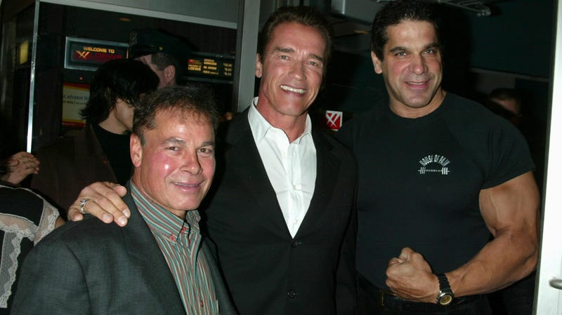 Franco Columbu, Arnold Schwarzenegger, and Lou Ferrigno