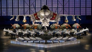 Illustration for article titled This Is All The Crap The F-35 Will Use By 2017