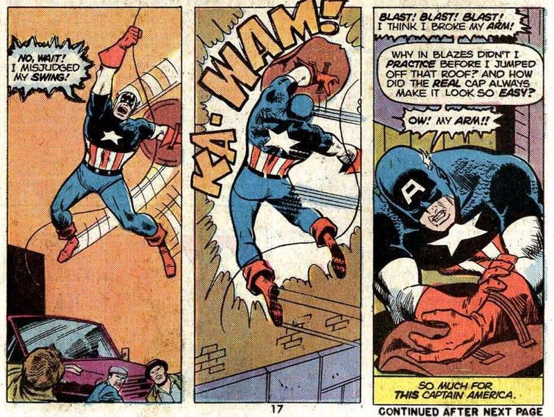 Bob Russo sebgai Captain America