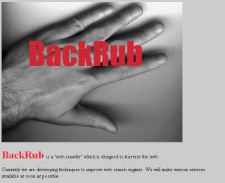 Illustration for article titled Google was originally called BackRub