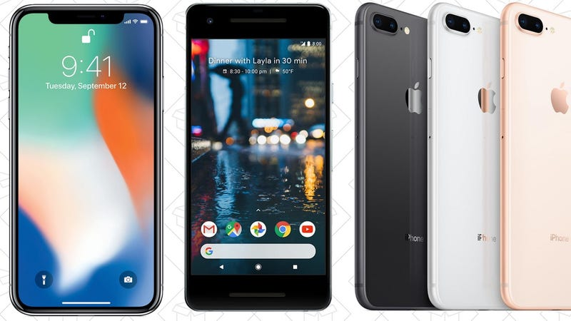 $100 Off Select Smartphones with Device Payment Plan | Verizon | Promo code VZWDEAL | Also available on iPhone X and SE