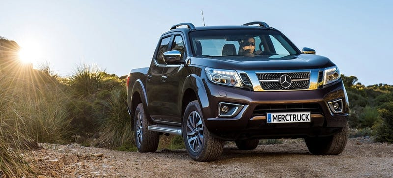 Illustration for article titled Mercedes 'X-Class' Pickup Truck Will Come In Work And Luxury Trims: Report