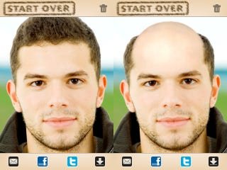 How would sir like to be bald and aged yourself by 60 years what other body dysmorphic photos can you upload to facebook the same developer has just released the bald booth app solutioingenieria Gallery