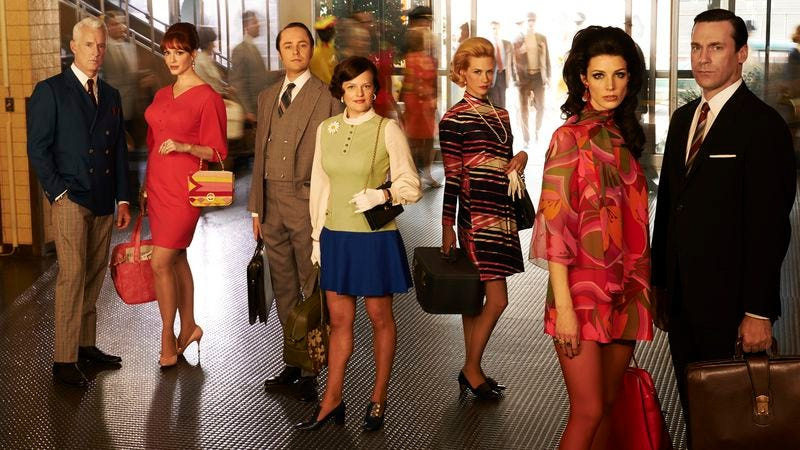 Illustration for article titled Who will walk through doorways during the first half of Mad Men's final season?