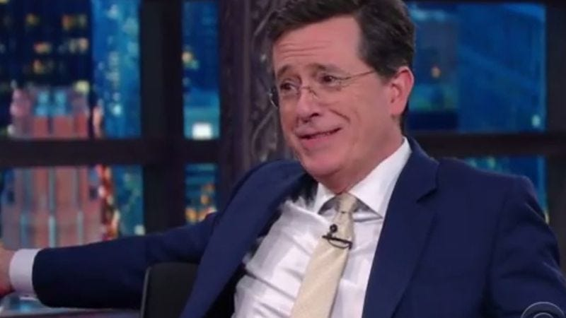 Illustration for article titled Tolkien nerd Stephen Colbert gets stumped by Ryan Gosling's mom
