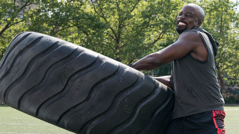 Bonus thing we loved: Mike Colter's arms while lifting heavy things.