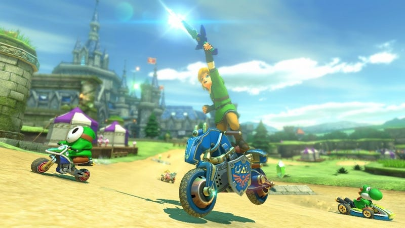 Illustration for article titled Link Is Now In Mario Kart, And He Brought A Sword