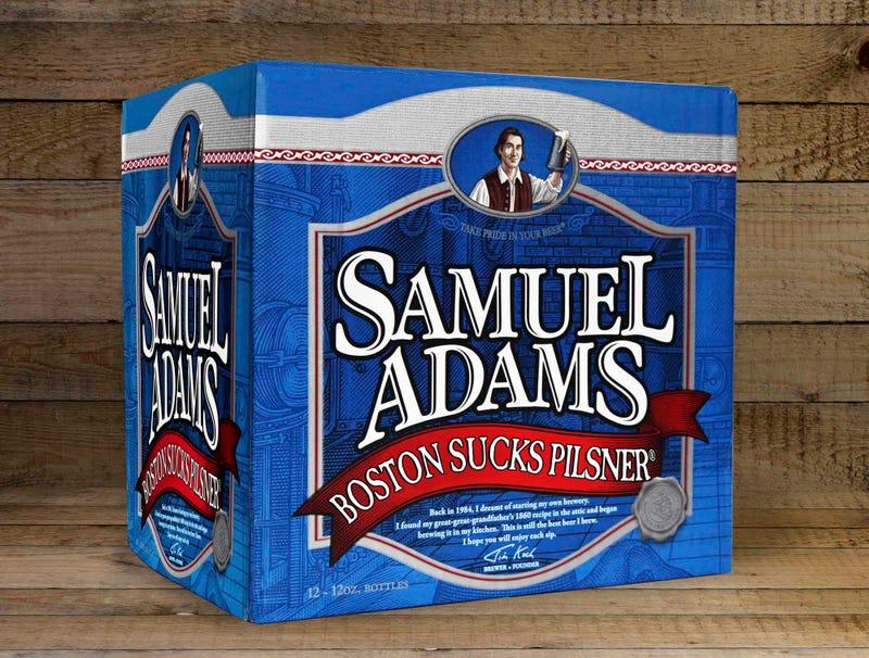 Illustration for article titled Samuel Adams Apologizes For 'Boston Sucks' Pilsner
