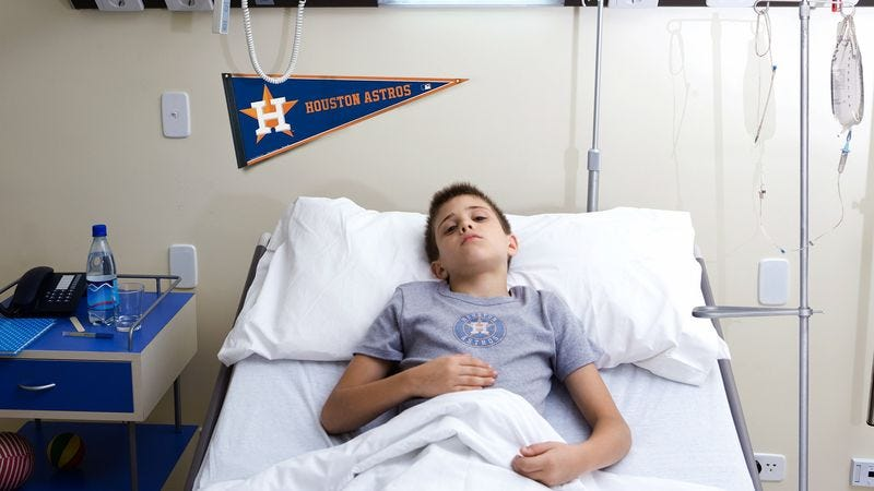 Illustration for article titled Dying Kid In Houston Holding On Until Astros Develop Player Worth Meeting
