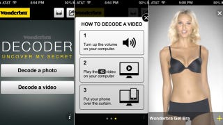 Illustration for article titled Wonderbra Built a Free App That Lets You Strip a Model Down to Her Skivvies