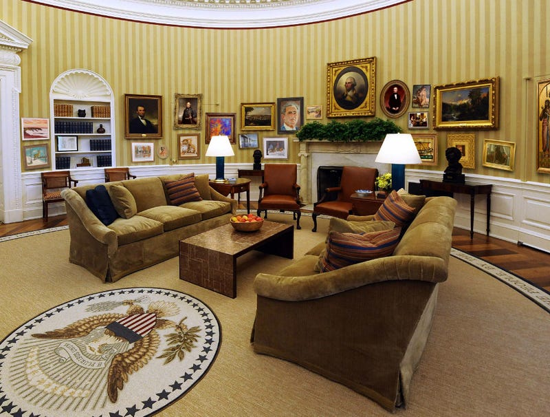Illustration for article titled White House Running Out Of Paintings To Cover Spots Where Obama Has Punched Through Wall